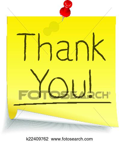 Clipart Thank You Sticky Note Fotosearch Search Clip Art Ilration Murals