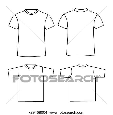 Clipart of Blank t-shirt template k29458004 - Search Clip Art ...