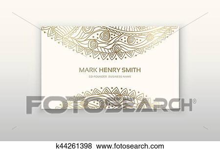 Business Card Decorative Ornamental Invitation Collection