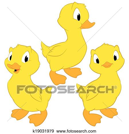 clip art of cartoon baby ducks k19031979 search clipart rh fotosearch com cartoon duck baby huey cartoon duck baby huey