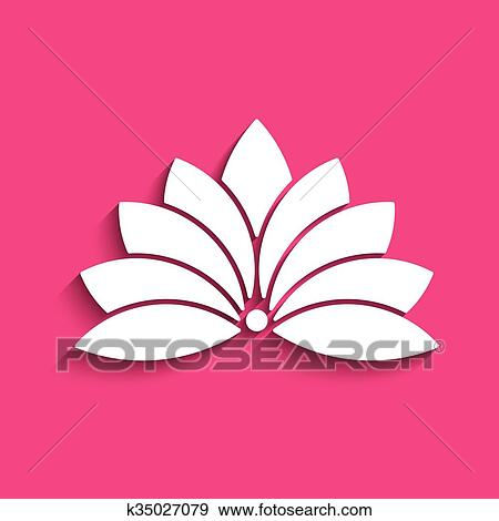 Clip Art Of Lotus Flower Logo Concept Of Spirituality Peace Relax
