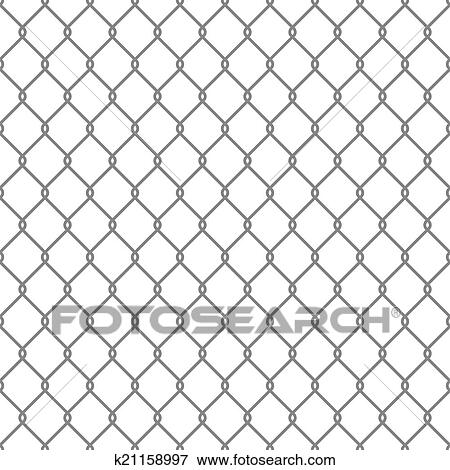 Clip Art of Steel Wire Mesh Seamless Background. Vector k21158997 ...