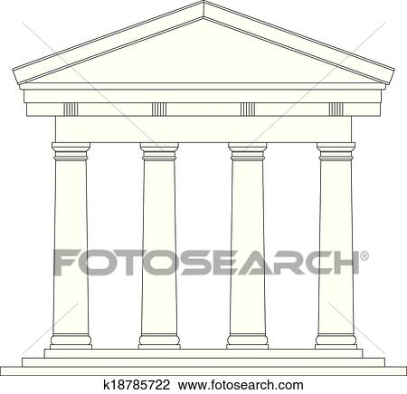 Tuscan Roman Temple Clipart K18785722 Fotosearch