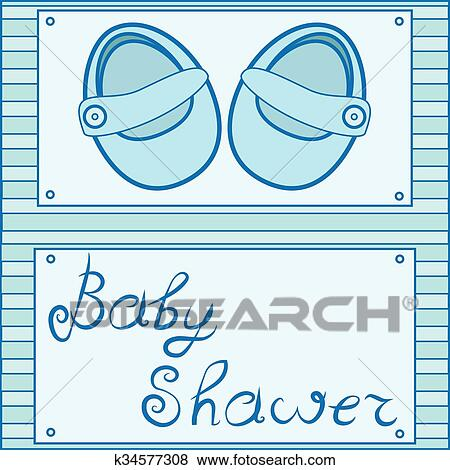 Vector Baby Shoes Icon Baby Shower Cards Clip Art K34577308 Fotosearch