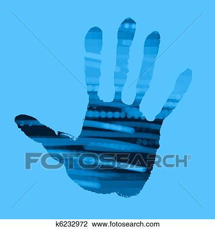 Abstract Handprint Drawing