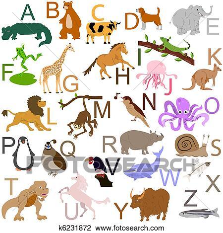 Animal alphabet Clipart | k6231872 | Fotosearch