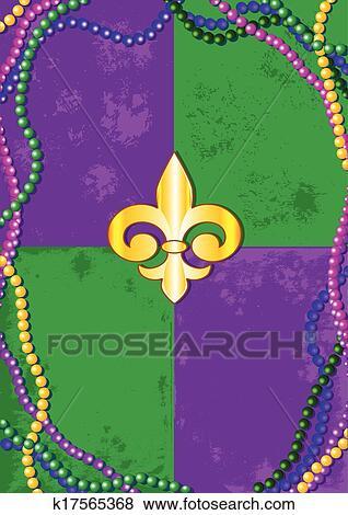 Clip Art Fasching Hintergrund K17565368 Suche Clipart Poster