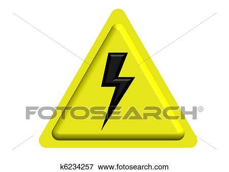 Stock Illustration Of High Voltage Warning Sign K6234257 Search
