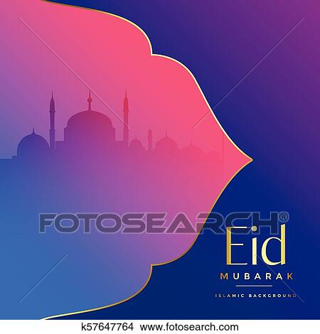 Clipart of islamic eid mubarak festival greeting k57647764 search clipart islamic eid mubarak festival greeting fotosearch search clip art illustration murals m4hsunfo