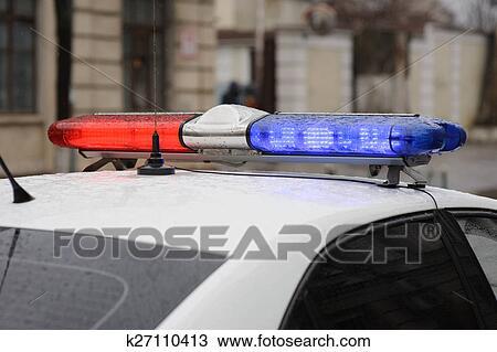 Lightbar Of An Emergency Police Car Stock Image K27110413