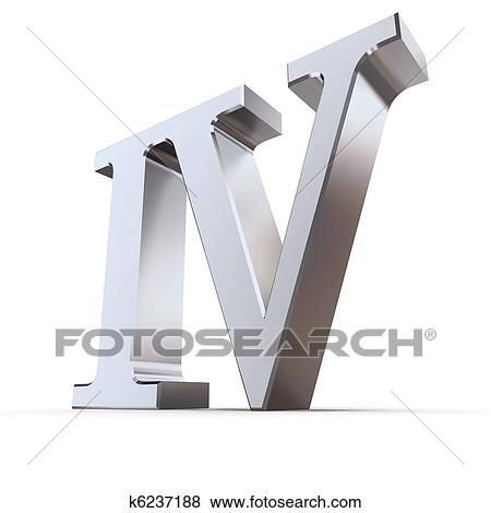 Chiffre Romain 4 banque d'illustrations - métallique, chiffre romain, 4 k6237188
