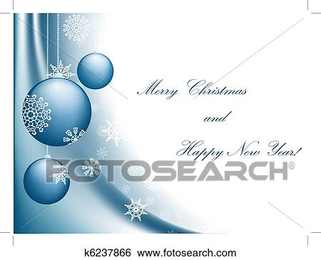 Clip Art Of Merry Christmas K6237866 Search Clipart Illustration