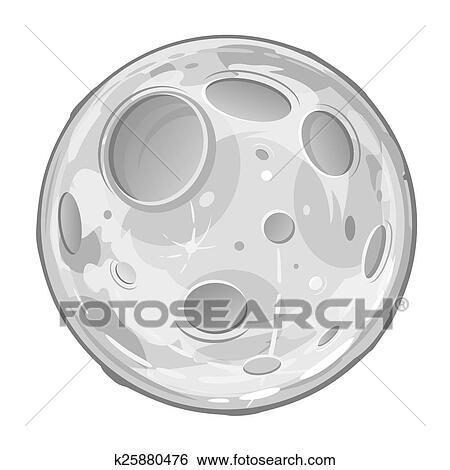 Banque d 39 illustrations pleine lune dessin anim - Dessin de lune ...