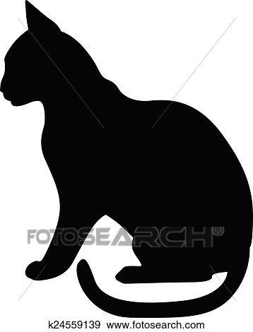 Clipart Silhouette Chat Noir Profil K24559139 Recherchez Des
