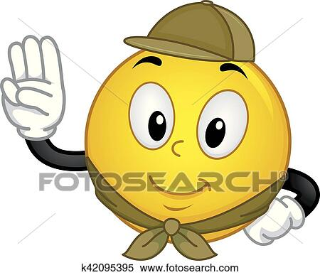 clipart of smiley boy scout pledge k42095395 search clip art rh fotosearch com boy scout salute clipart boy scout salute clipart