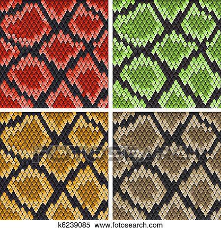 Clipart of Snake skin k6239085