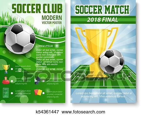 Vektor Plakate Von Football Fussball Becher