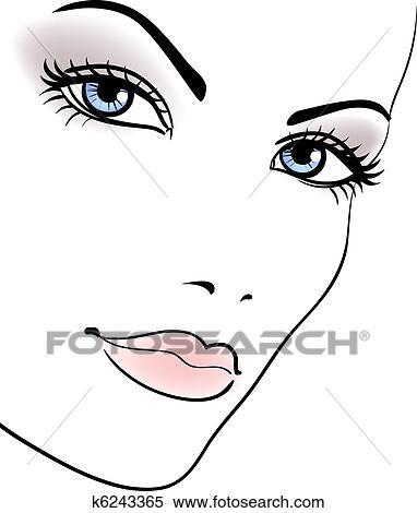 美しさ 女の子 顔 美しい女性 イラスト K6243365 Fotosearch