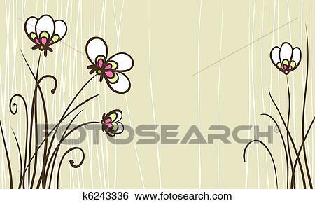 Banque D Illustrations Carte A Stylise Fleurs Pour