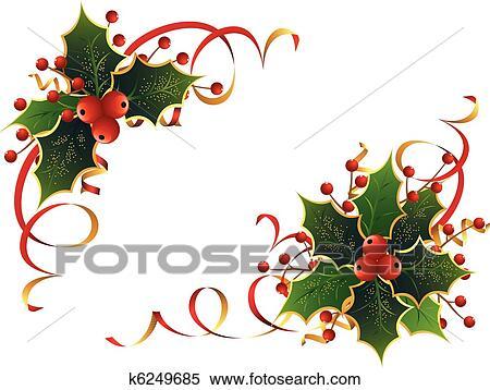 Christmas Holly Clip Art.Christmas Holly Clipart