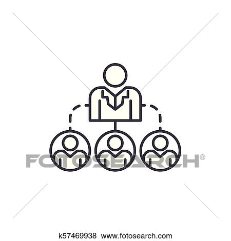 Compañía Estructura Lineal Icono Concept Compañía