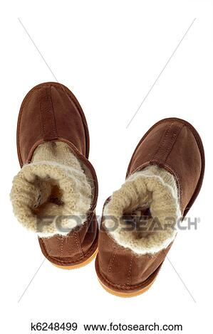 6e166ec26d1 Isolated brown comfortable slippers Stock Photograph k6248499