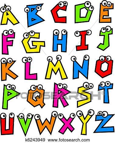 Colección de ilustraciones - miedoso, alfabeto k6243949 - Buscar ...