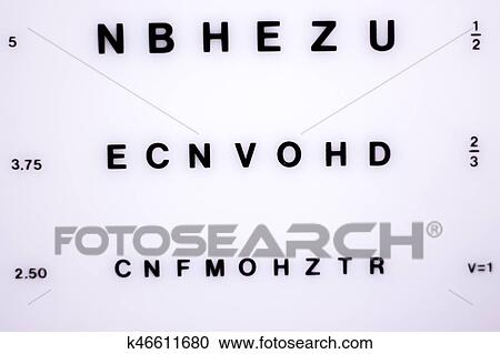 Stock Illustrations Of Optician Eye Test Chart K46611680 Search