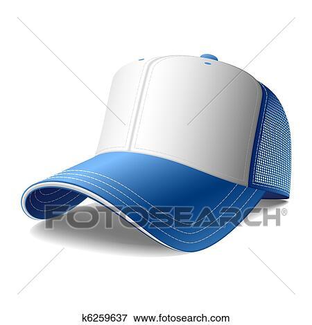青 野球帽 クリップアート K6259637 Fotosearch