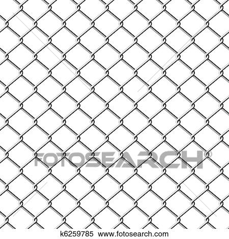 Clipart of Chainlink fence. Seamless. k6259785 - Search Clip Art ...