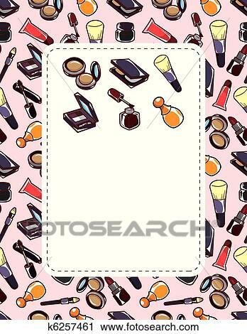 Clipart Dessin Anime Maquillage Beaute Carte K6257461