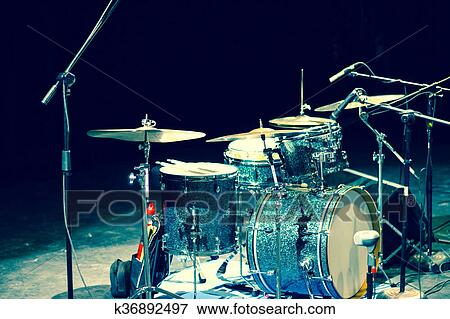 Picture Of Drum Set Photography K36892497 Search Stock Photography