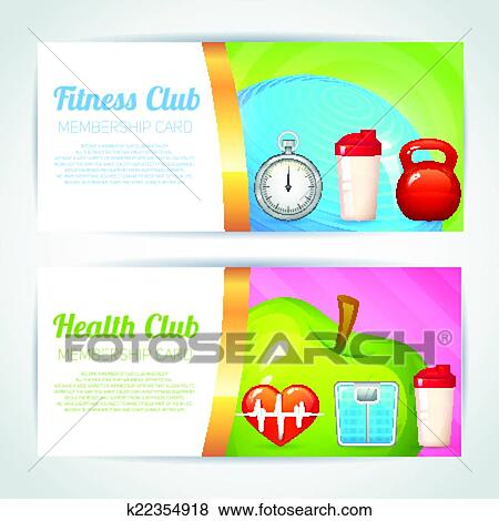 Clip Art of Fitness club card design k22354918 - Search Clipart ...