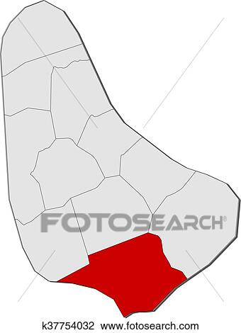 Map - Barbados, Christ Church Clipart | k37754032 | Fotosearch Christ Church Barbados Map on