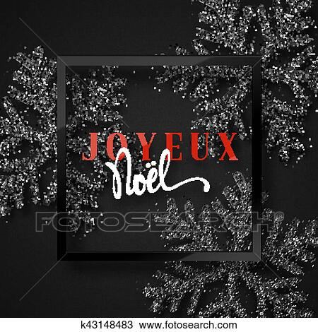 French inscription. Joyeux Noel