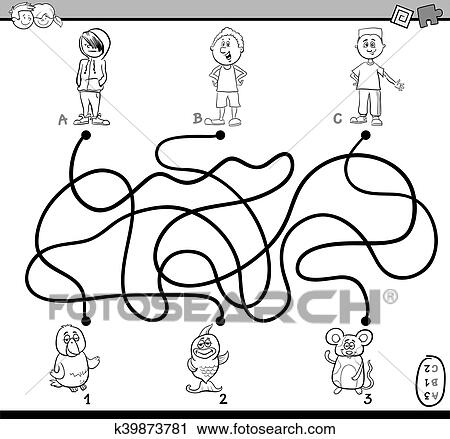 Clipart - pfad, labyrinth, färbung, seite k39873781 - Suche Clip Art ...