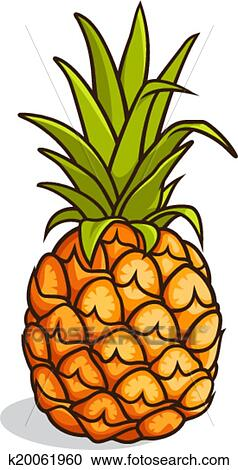 clipart of pineapple k20061960 search clip art illustration rh fotosearch com clipart pineapples blue clipart pineapple and palm trees