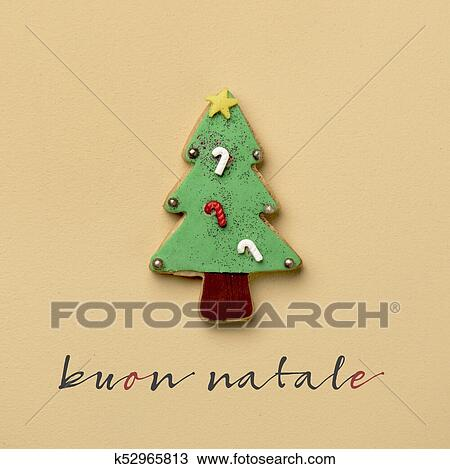 merry christmas in italian Stock Image