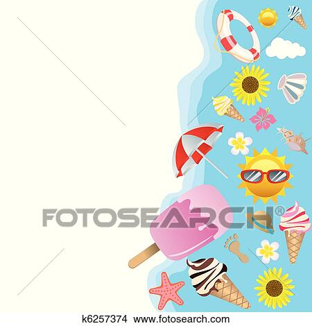 Klipart Yaz Arka Plan K6257374 Clipart Duvar Resimleri çizim