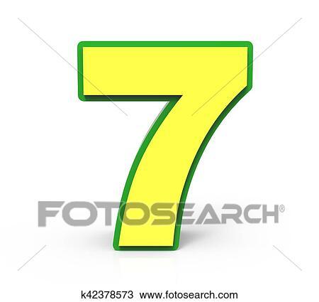 3d Natal Numere 7 Desenho K42378573 Fotosearch