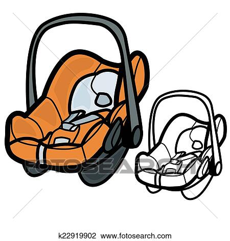 clipart of baby car seat k22919902 search clip art illustration rh fotosearch com back seat car clipart back seat car clipart