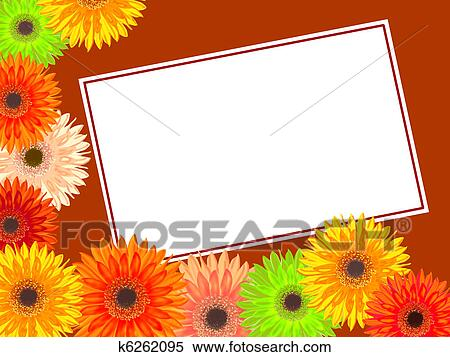 Stock Illustration Of Birthday Card With Colorful Gerbera K6262095