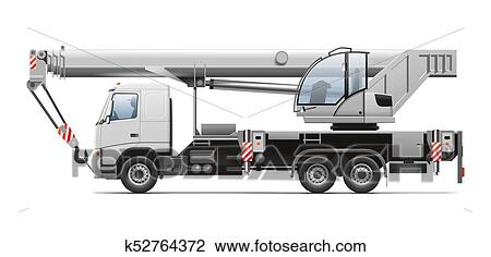 Camion Grue Dessin K52764372 Fotosearch