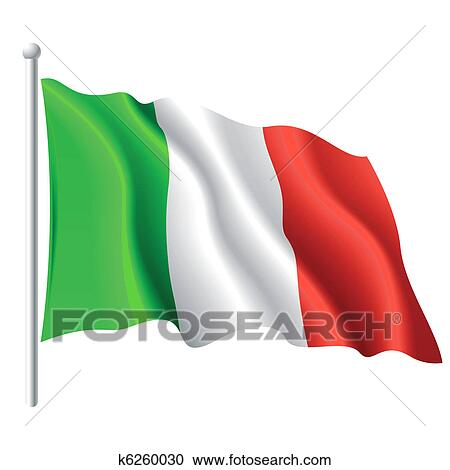 clipart of flag of italy k6260030 search clip art illustration rh fotosearch com moving italian flag clip art Waving Italian Flag