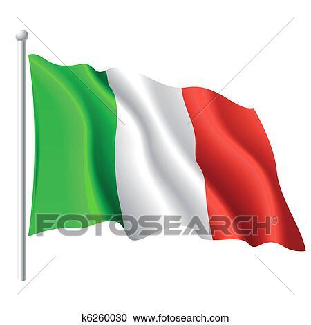 clipart of flag of italy k6260030 search clip art illustration rh fotosearch com italian flag clip art waving moving italian flag clip art