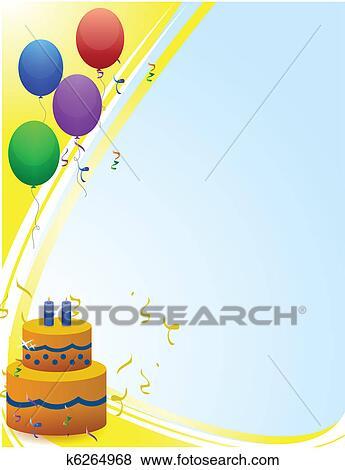 Joyeux Anniversaire Carte à Ballons Clipart