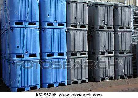 large plastic totes. Stock Image - Large Plastic Totes.. Fotosearch Search Photography, Poster Photos Totes