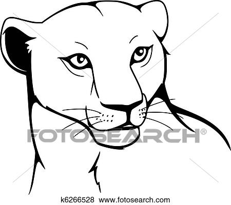 clip art of lioness k6266528 search clipart illustration posters rh fotosearch com lioness face clipart lioness clipart free