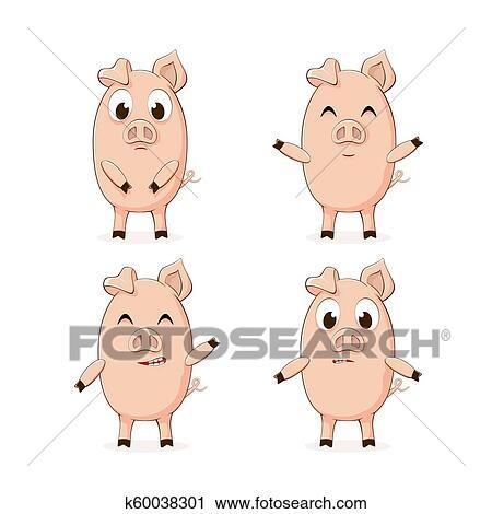 Image result for baby pigs clipart   Lì xì, Động vật, Lợn con