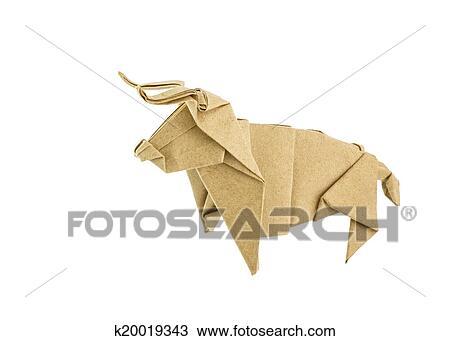 Easy Origami Bull Tutorial 簡單摺紙牛教學 Origami-toro de papel ... | 341x450